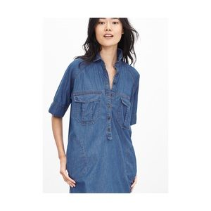 Banana Republic Dolman Sleeve denim shirt dress